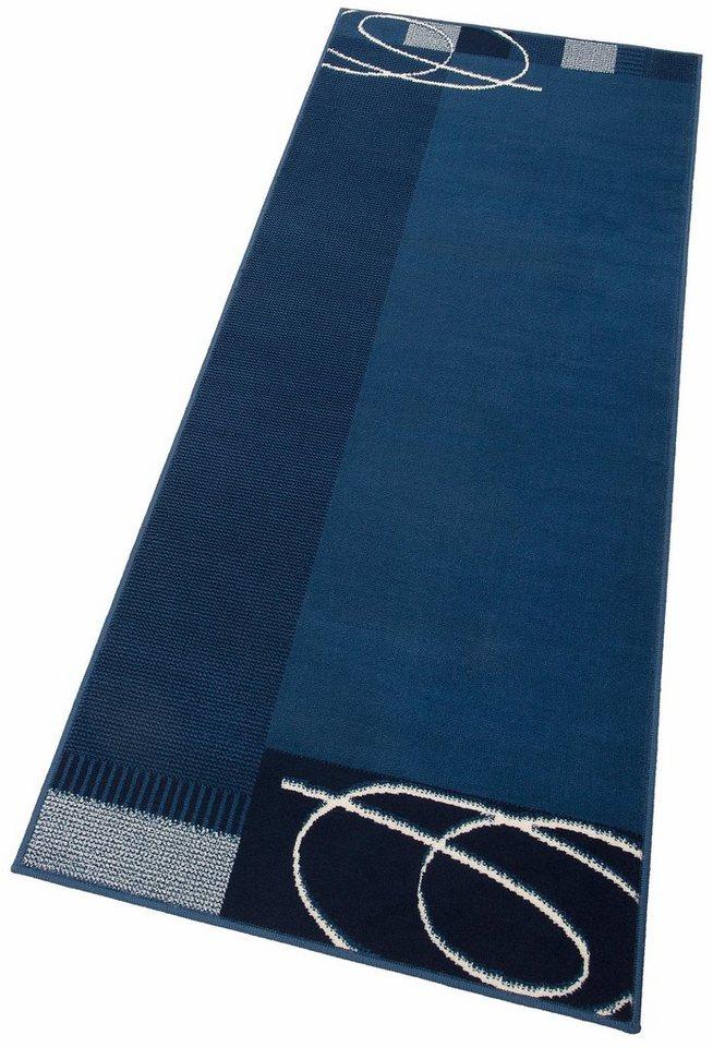 Läufer, my home, »Eden«, gewebt in blau