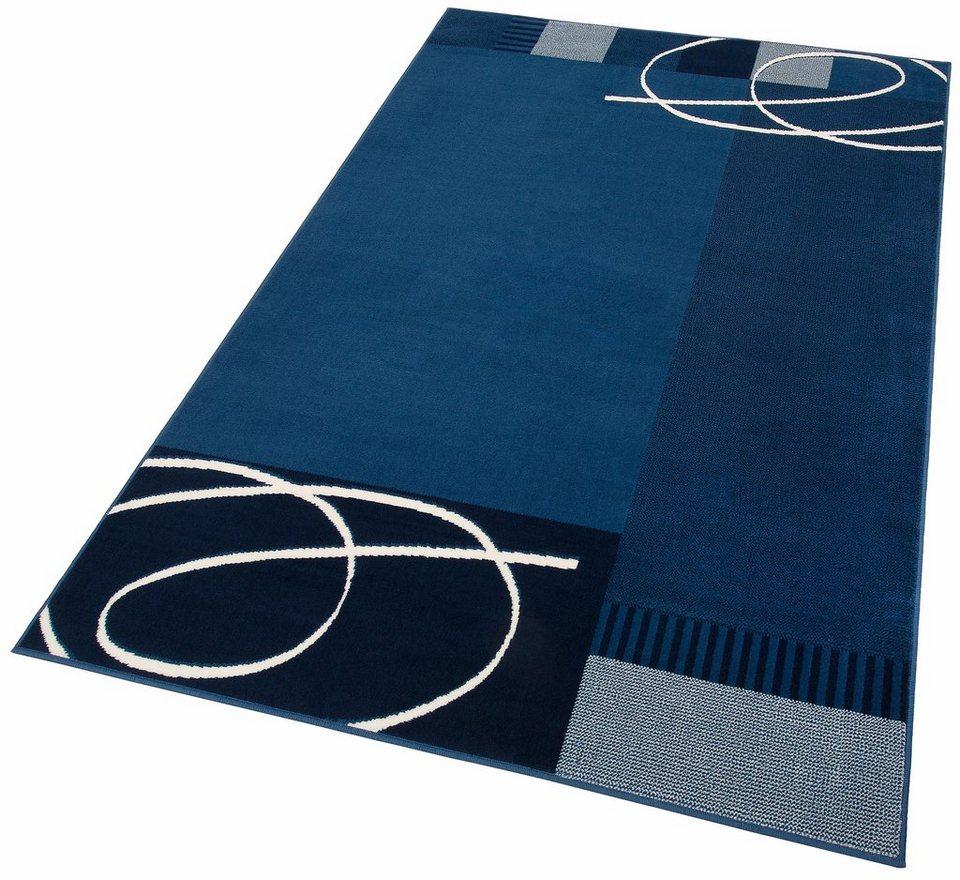 Teppich, my home, »Eden«, gewebt in blau