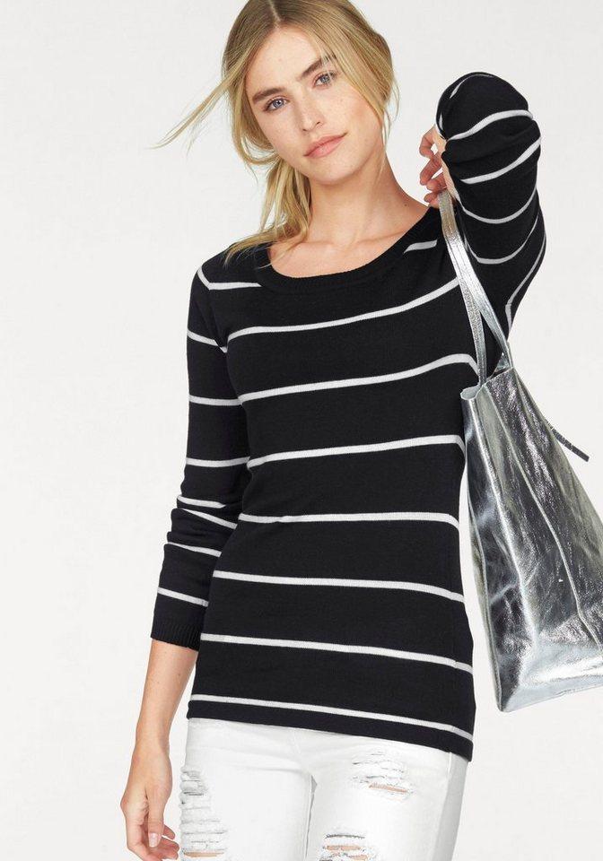 AJC Streifenpullover mit Streifen in schwarz-weiß