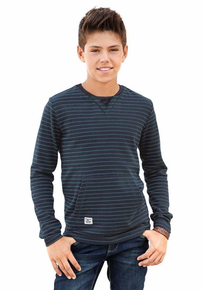 s.Oliver RED LABEL Junior Langarmshirt in blau