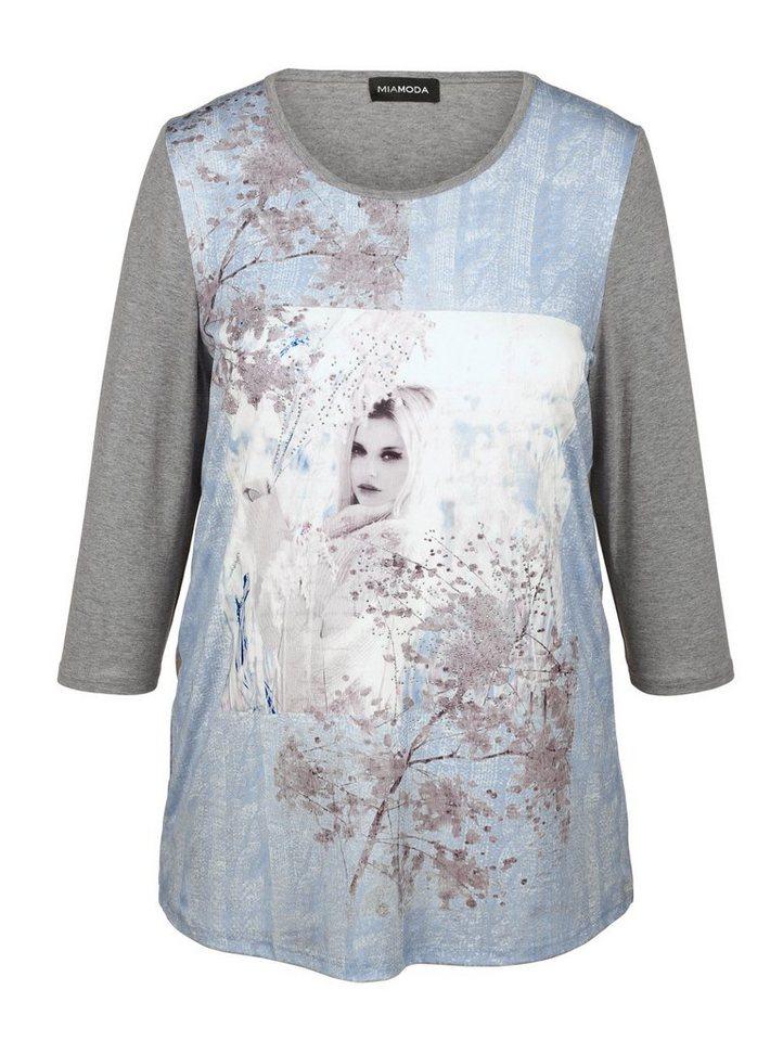 MIAMODA Shirt in blau/grau