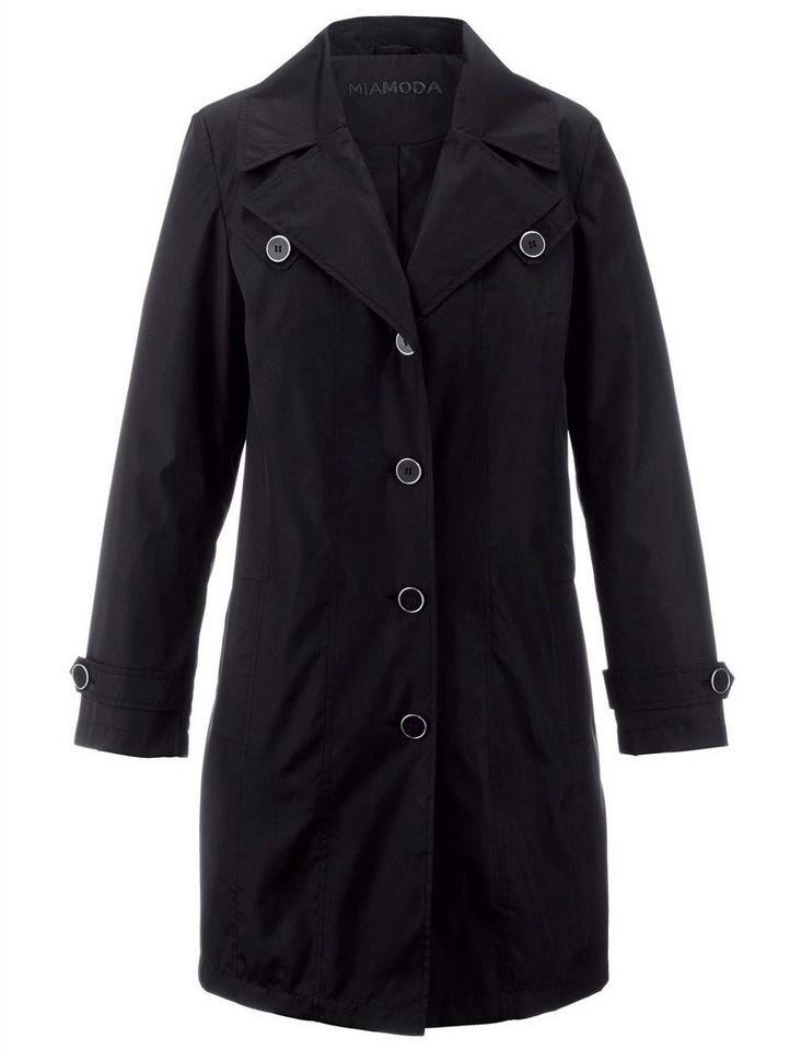 MIAMODA Trenchcoat in schwarz
