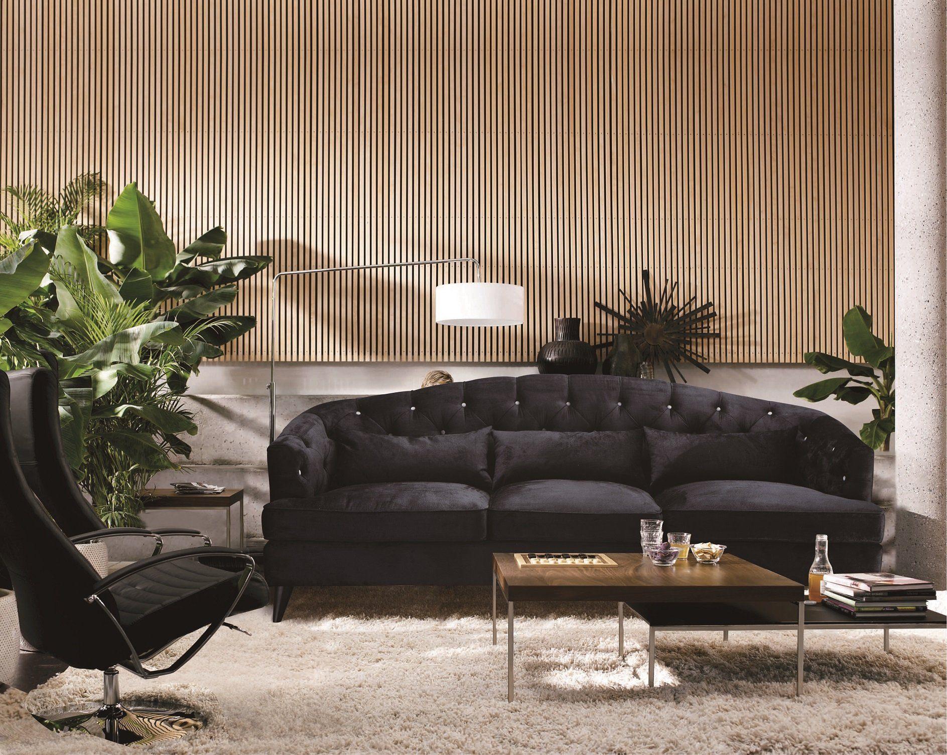 Kasper-Wohndesign Sofa Stoff anthrazit 3-Sitzer »SALON«