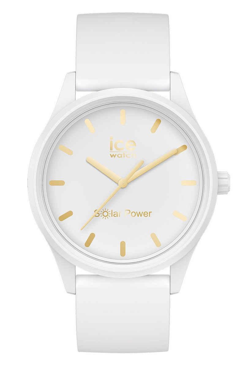 ice-watch Solaruhr »S Weiß/Goldfarben«