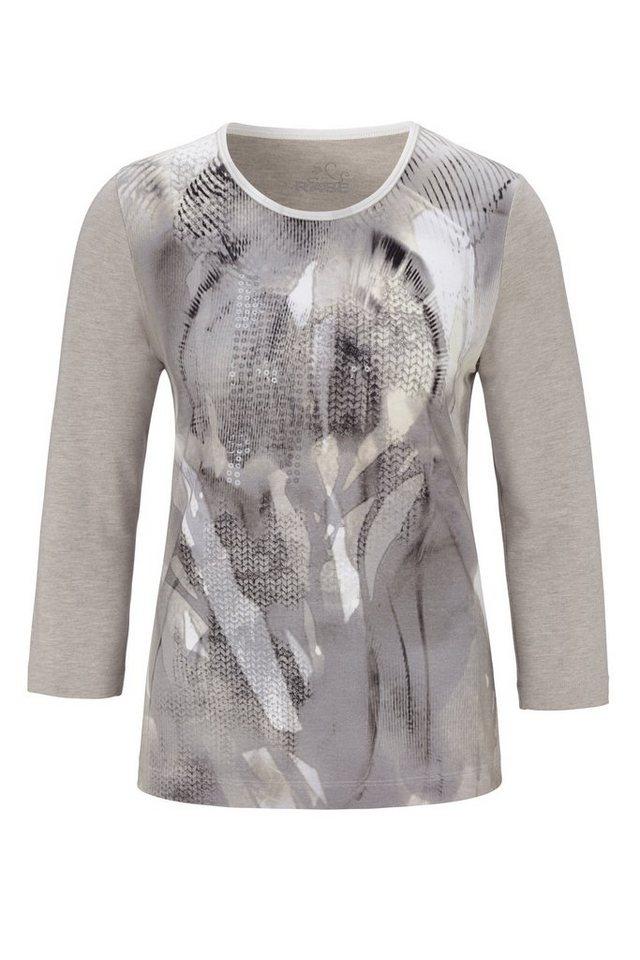 Rabe Shirt mit Muster und Pailletten in BISQUIT