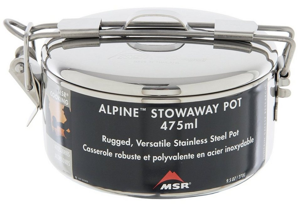 MSR Camping-Geschirr »Alpine Stowaway Pot 475ml« in silber