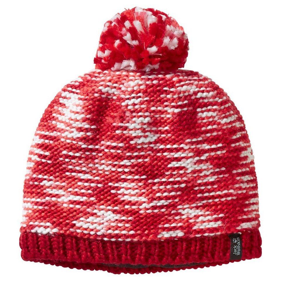 Jack Wolfskin Strickbommelmütze »NEW KALEIDOSCOPE CAP« in indian red