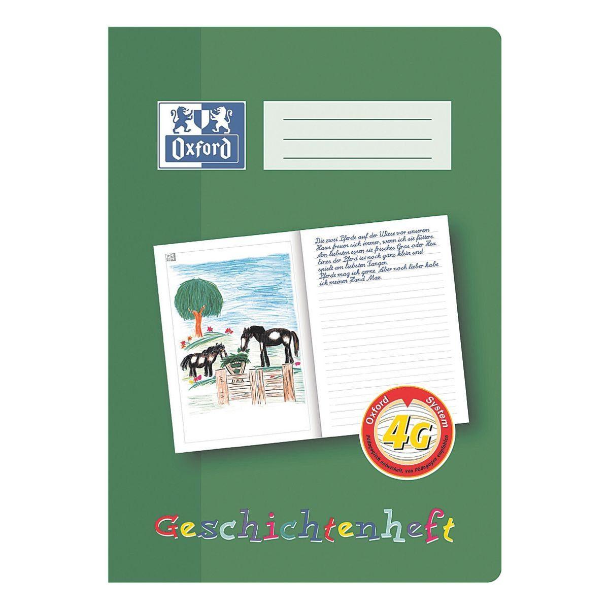 OXFORD Geschichtenheft A4 Sonderlineatur (Lineatur 4G) »100050098«