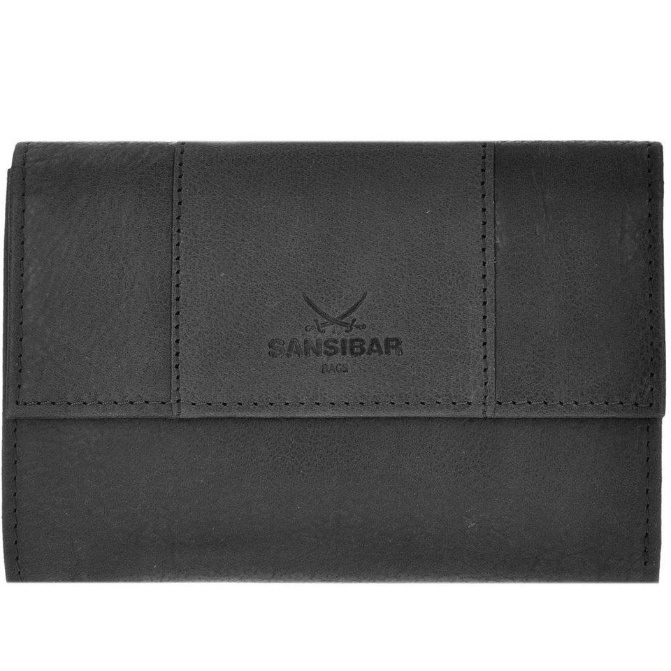 Sansibar Levante Geldbörse Leder 15 cm in black