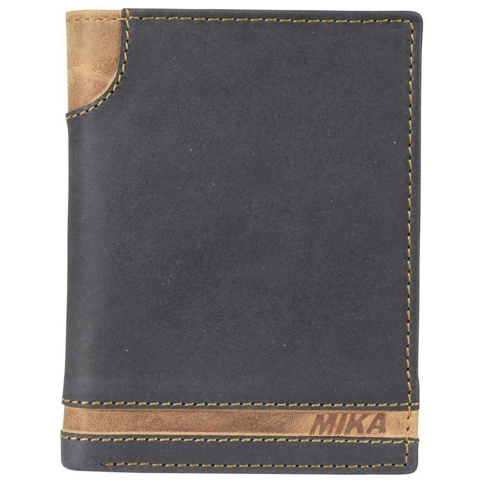Mika Lederwaren Accessoires Geldbörse Leder 9,5 cm in black