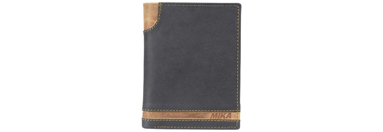 Mika Lederwaren Accessoires Geldbörse Leder 9,5 cm