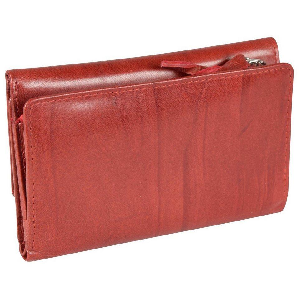Mika Lederwaren Accessoires Geldbörse Leder 14,5 cm in rot
