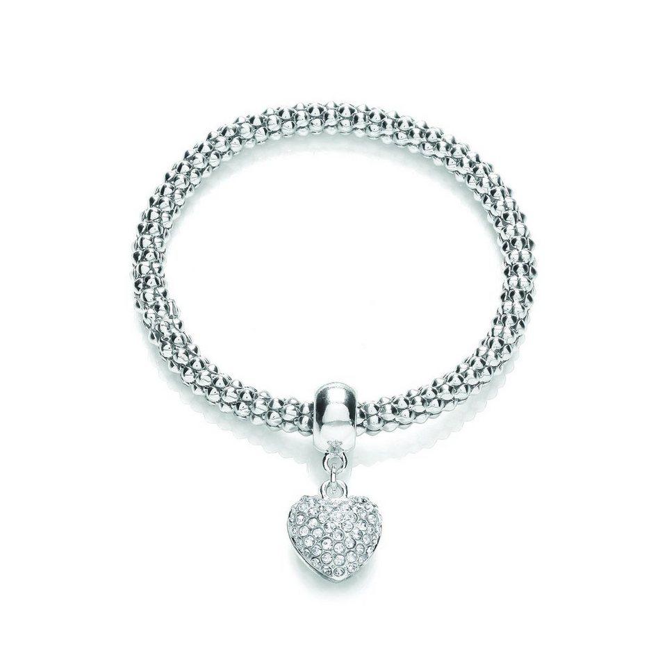 Buckley London Armschmuck »rhodiniert mit Kristallen« in weiß