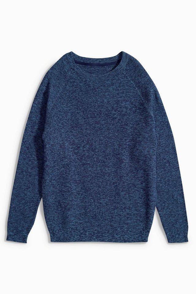 Next Pullover mit Waffelstruktur in Blue