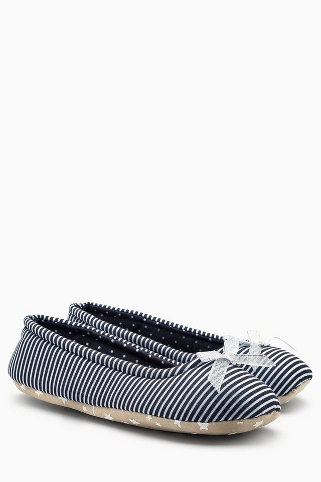Next Ballerina-Hausschuh in Monochrome Stripe