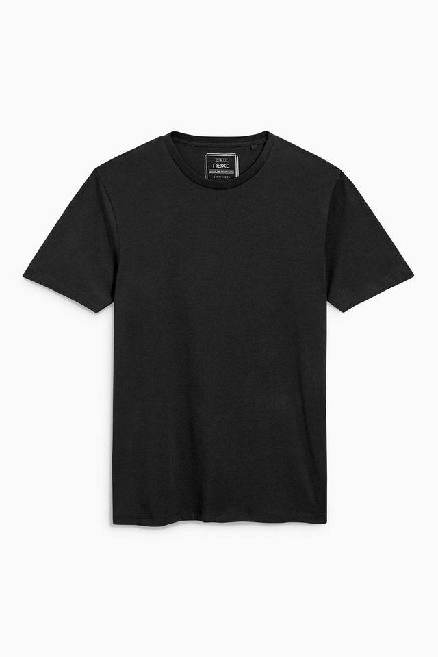 Next Slim-Fit T-Shirt mit Rundhalsausschnitt in Black