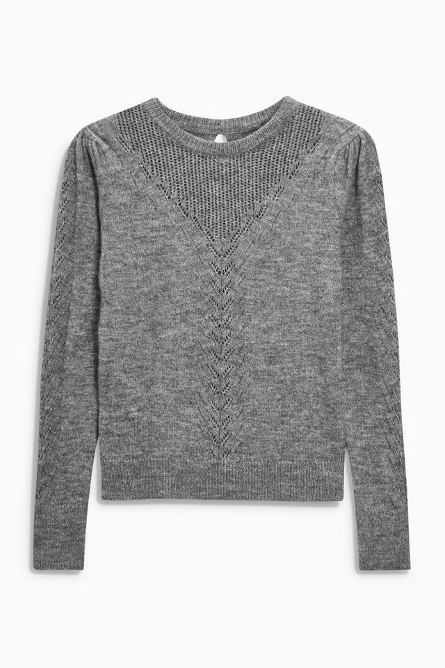 Next Ajour-Pullover in Grey