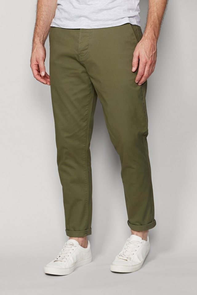Next Stretch-Chinohose in Light Green Tapered Fit