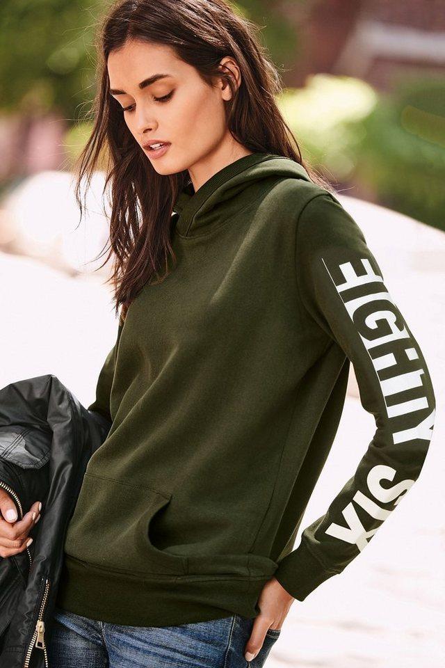 Next Kapuzensweatshirt mit Grafik in Green