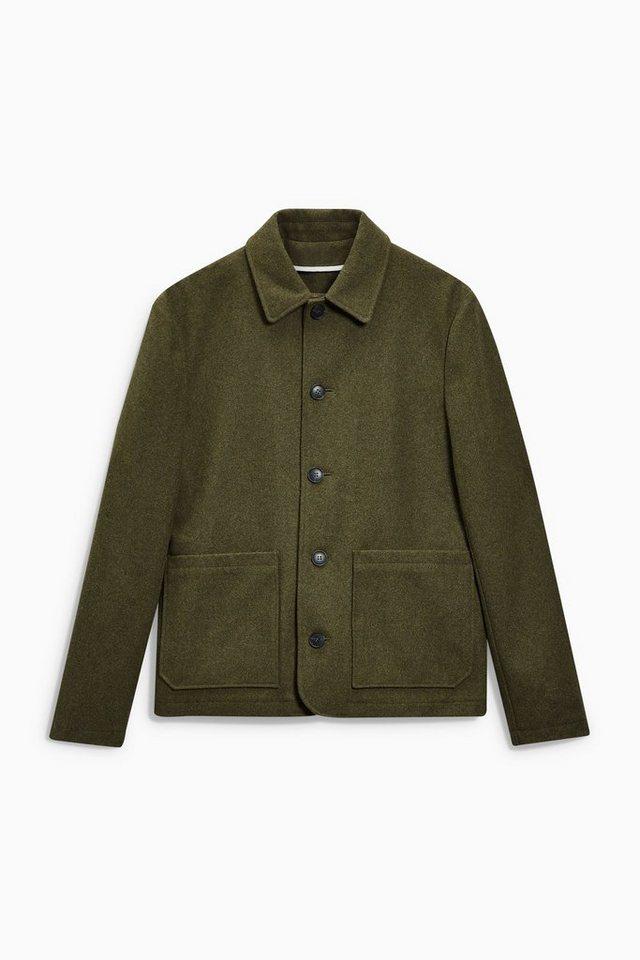 Next Workwear-Jacke aus Wollgemisch in Khaki