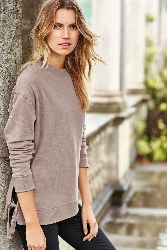 Next Pullover mit seitlichem Bindedetail in Pink Regular