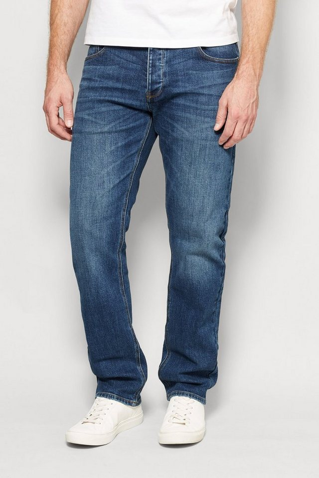 Next Straight-Fit Mid Blue Stretch-Jeans in Mid Blue Straight Fit