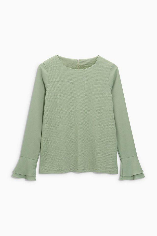 Next Shirt mit Rüschenärmeln in Green