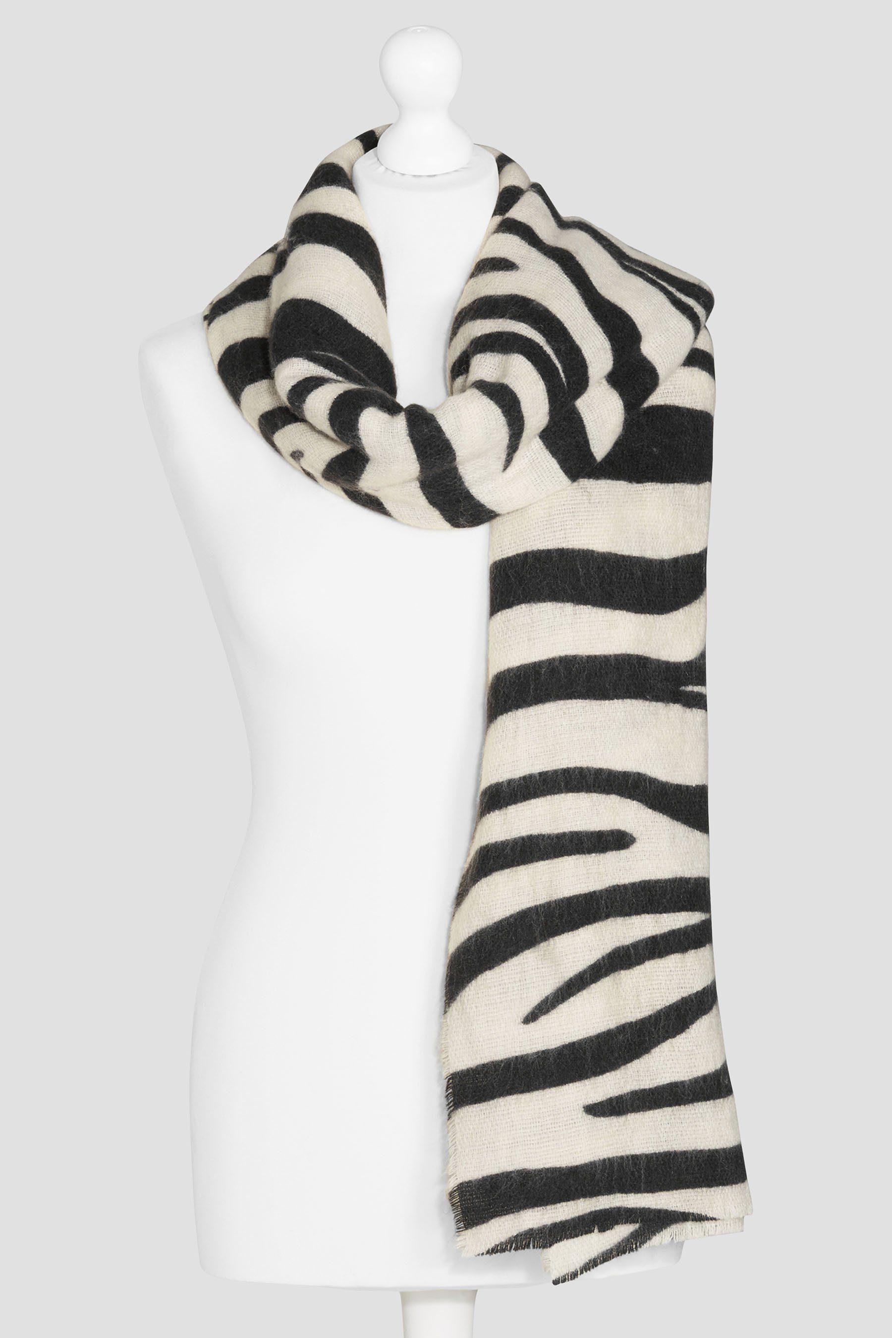Next Schal mit Zebramuster