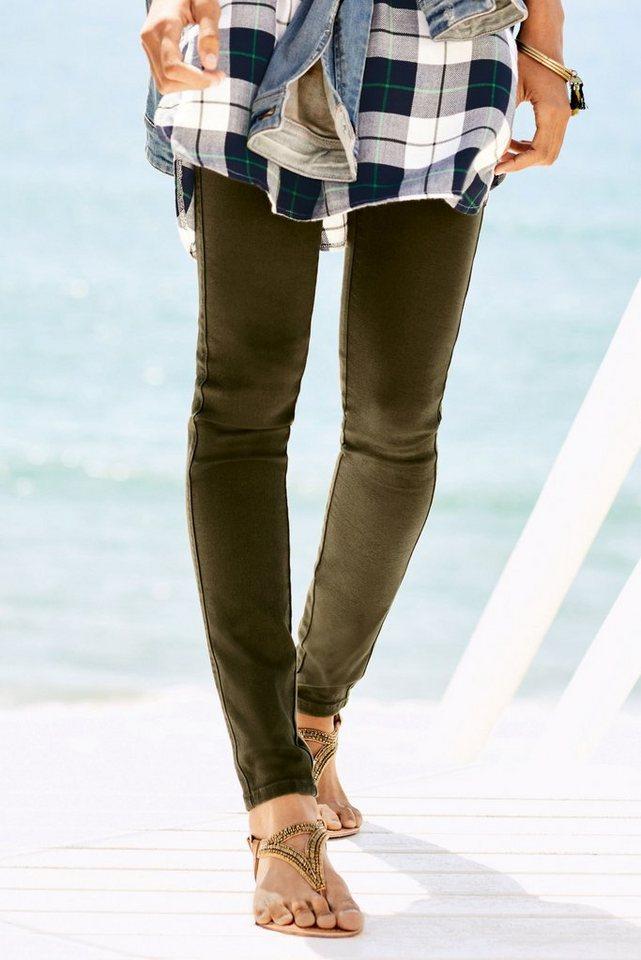 Next Leggings aus Denim in Khaki Regular