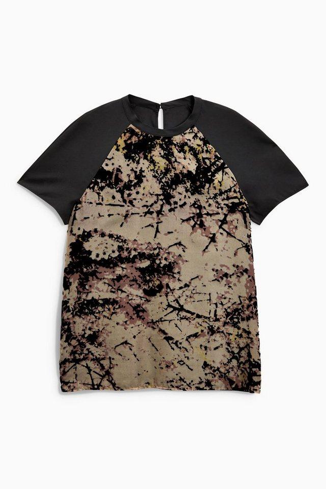 Next T-Shirt mit Ausbrennermuster in Black