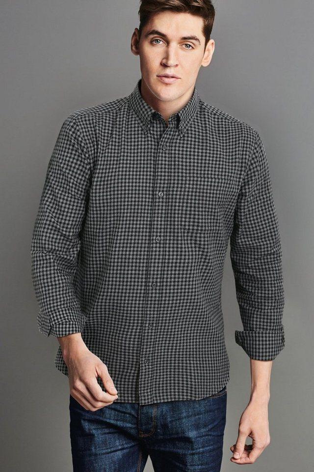 Next Hemd mit Vichykaro in Black/Grey