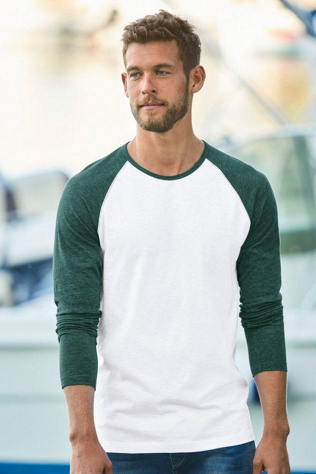 Next Shirt mit Raglanärmeln in White & Green