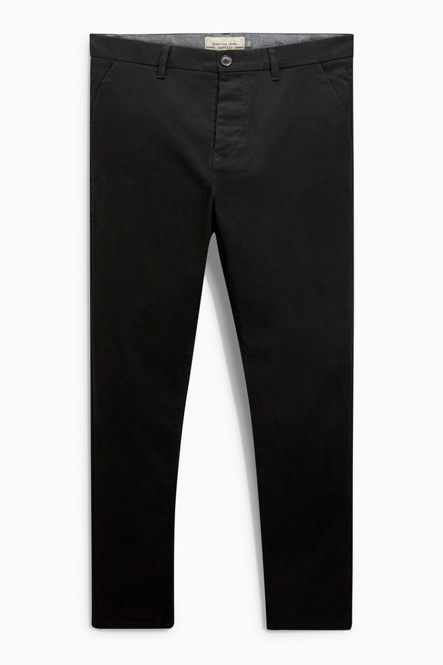 Next Stretch-Chinohose in Black Tapered Fit