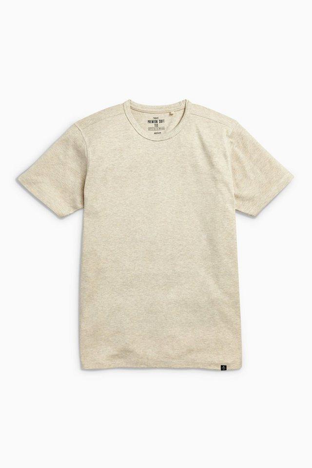 Next Weiches T-Shirt in Ecru