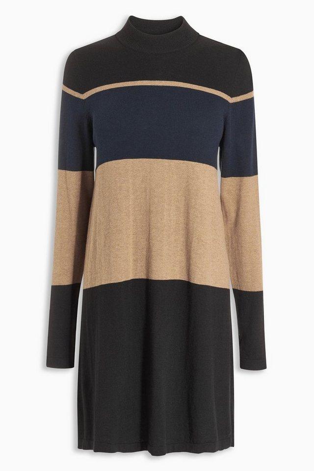 Next Kleid mit hohem Ausschnitt in Black/Navy