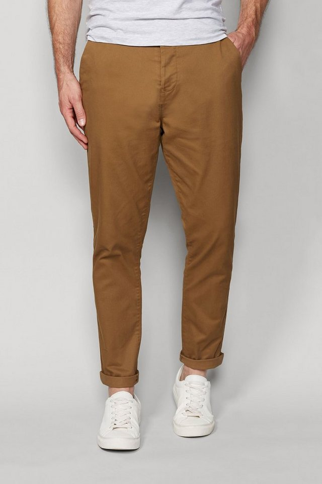 Next Stretch-Chinohose in Tan Tapered Fit