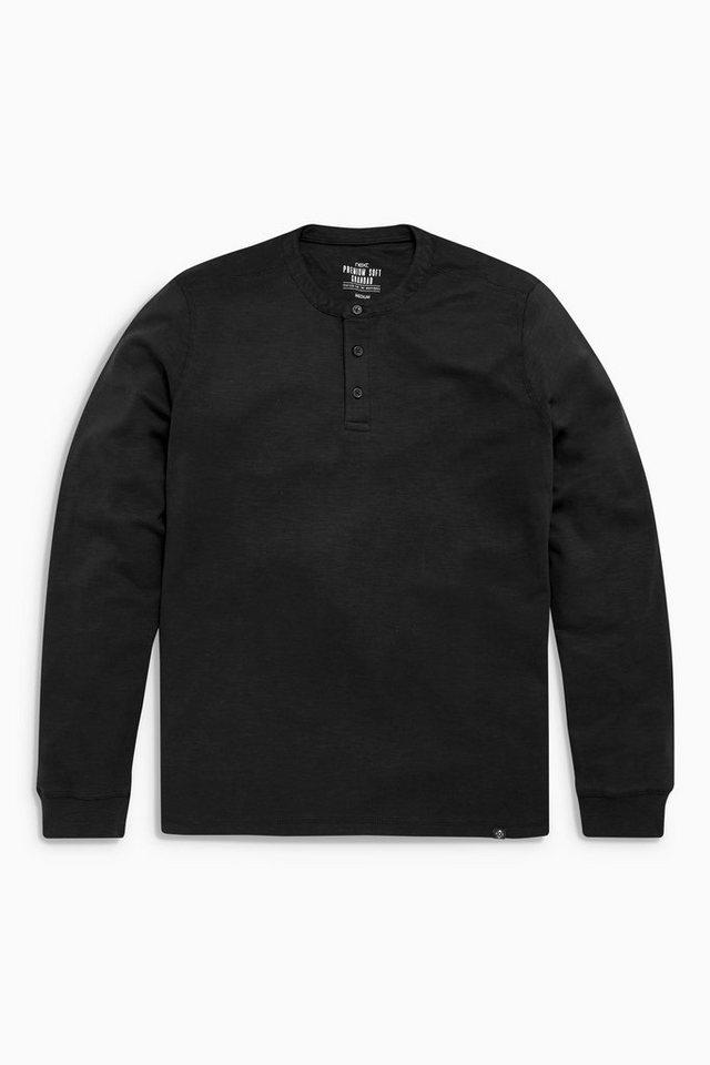 Next Shirt mit Knopfleiste in Black