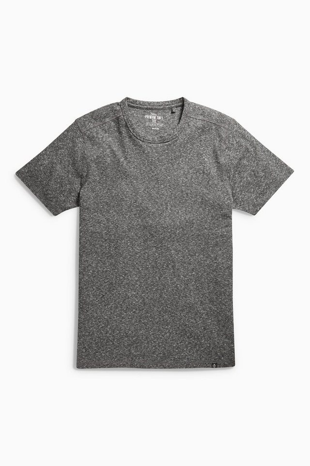 Next Weiches T-Shirt in Charcoal
