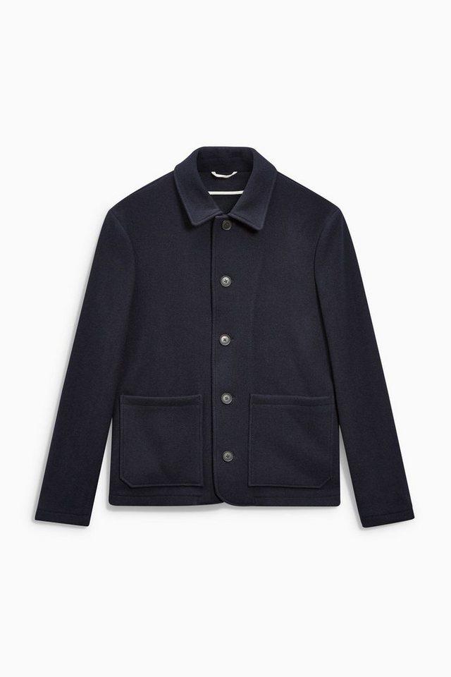 Next Workwear-Jacke aus Wollgemisch in Navy