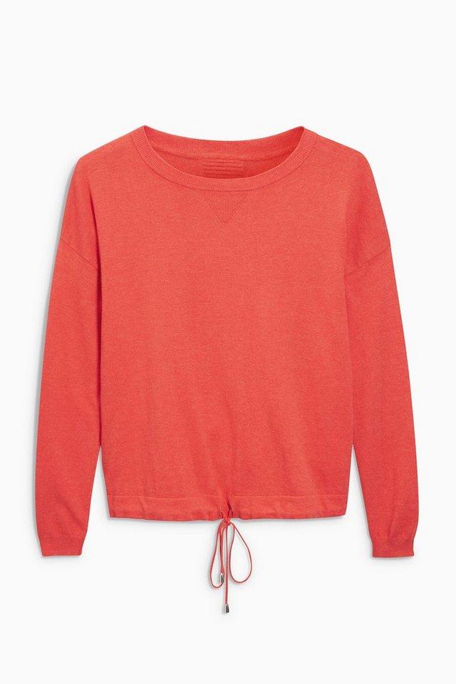 Next Sweatshirt mit Tunnelzugsaum in Red