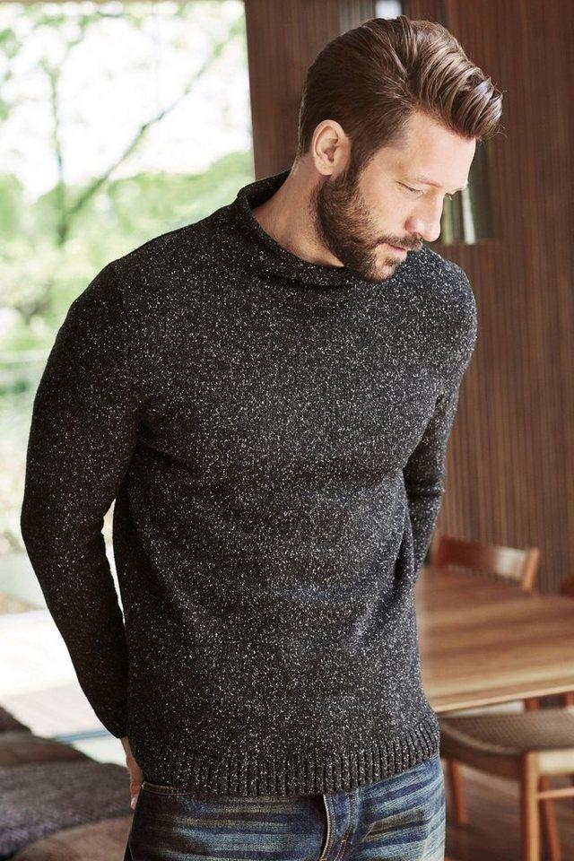 Next Pullover mit strukturierter Oberfläche in Charcoal