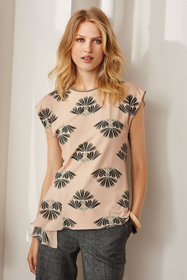 Next Verziertes T-Shirt mit Fächerprint in Blush Regular