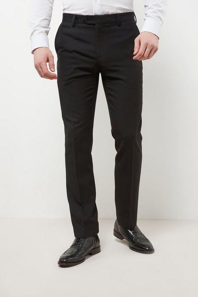 Next Hose mit Flatfront in Black Slim Fit