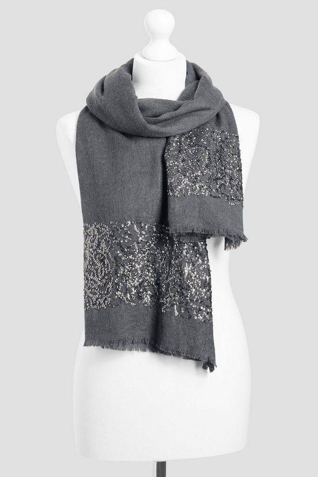 Next Schal aus Wollgemisch mit Paillettendetails in Charcoal