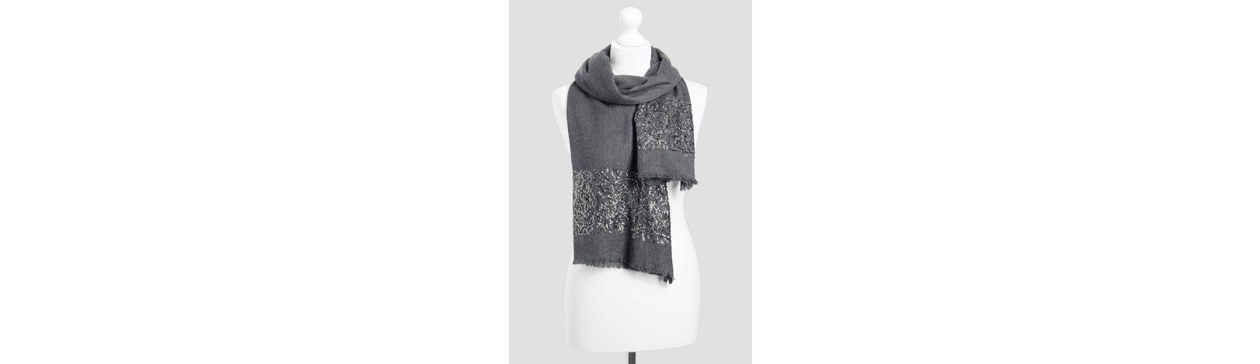 Next Schal aus Wollgemisch mit Paillettendetails