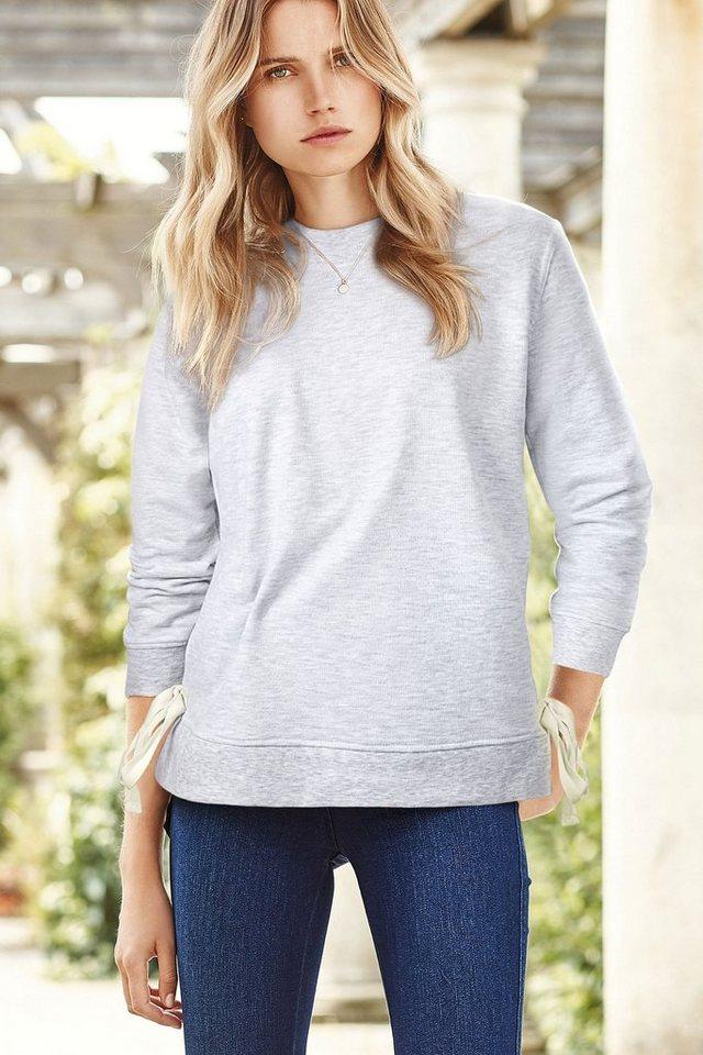 Next Pullover mit seitlichem Bindedetail in Grey Regular