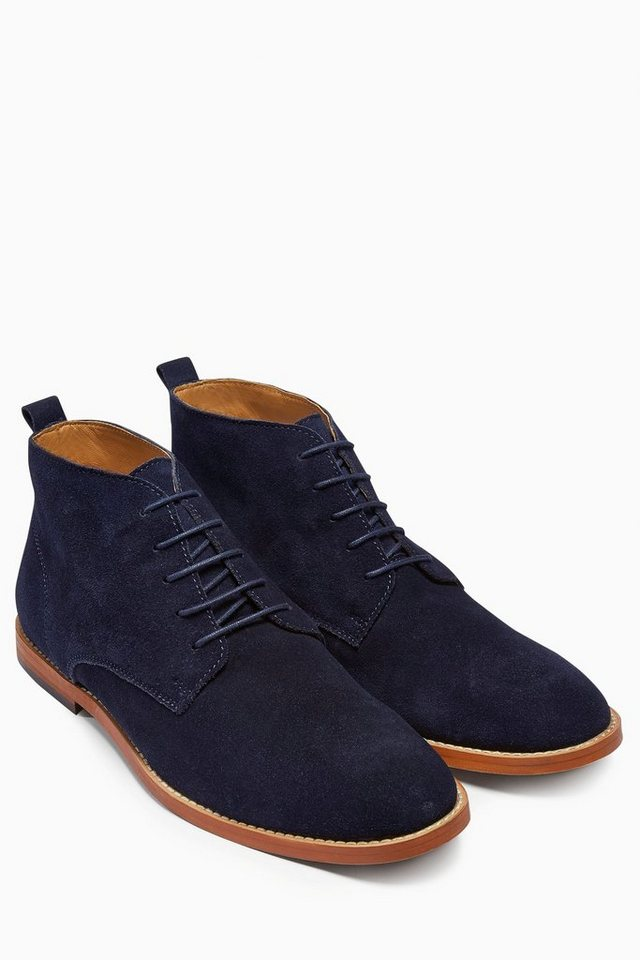 Next Stiefel aus Veloursleder in Navy