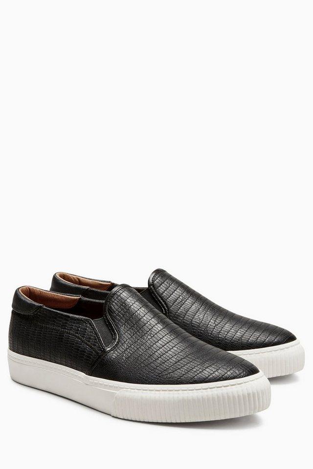 Next Slip-On Sneaker in Black Snake