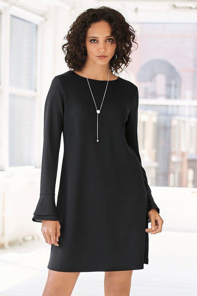 Next Kleid mit Rüschenärmeln in Black Regular