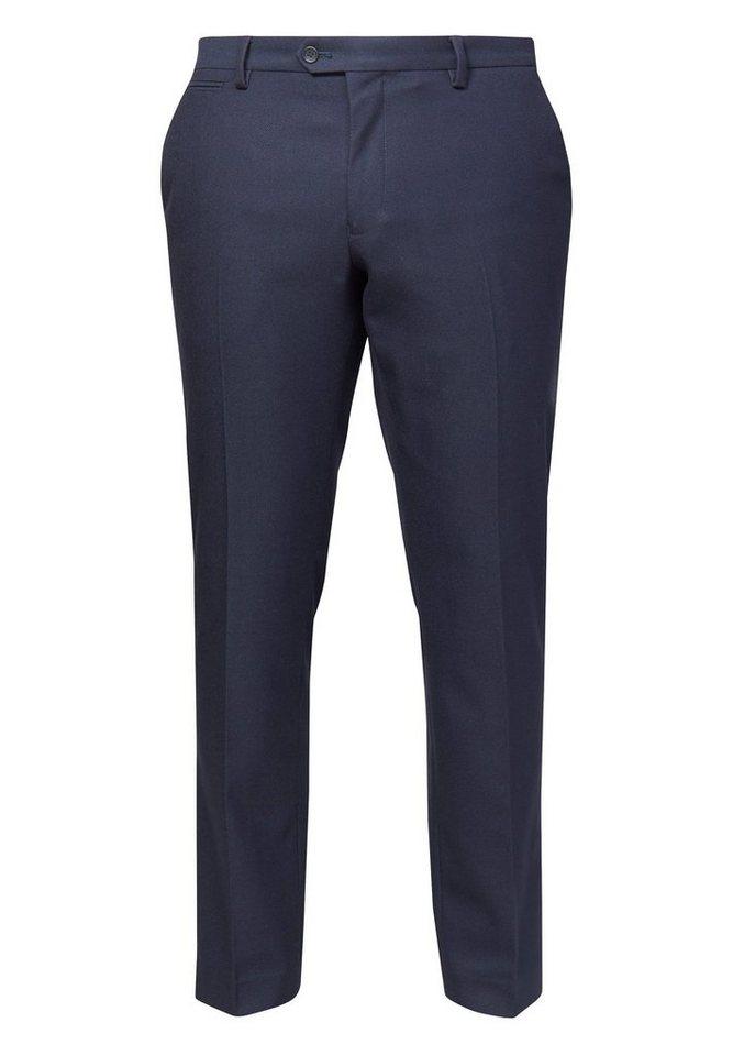 Next Hose mit Flatfront in Navy Slim Fit